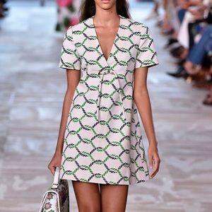 Tory Burch V Neck Tie Detail Pier Dress